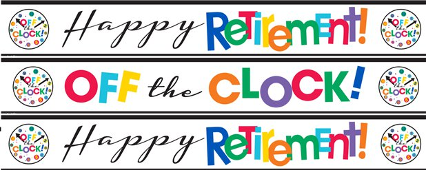 Happy Retirement Paper Banners - 1m