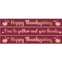 Gather Thanksgiving Paper Banners - 1m