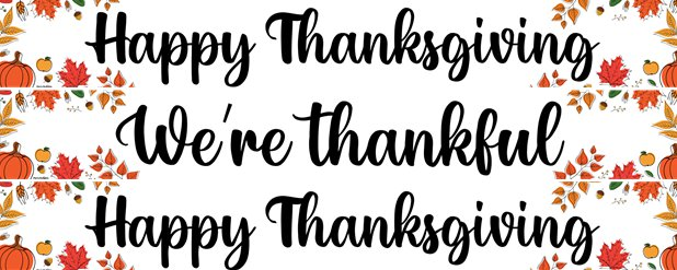 We're Thankful Paper Banners - 1m