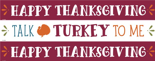 Talk Turkey to Me Paper Banners - 1m