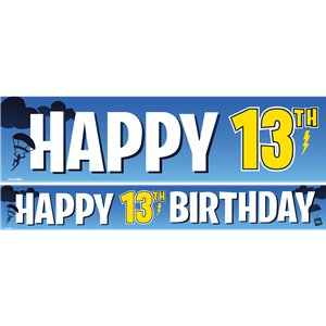 13th Birthday Boy Paper Banners