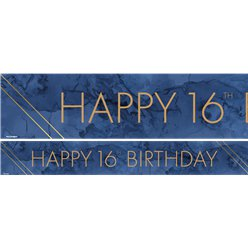 16th Birthday Paper Banners Male