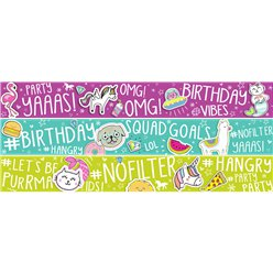 Selfie Celebration Paper Banners 3pk