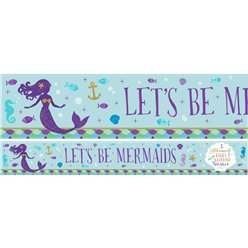 Mermaid Wishes Paper Banners - 1m