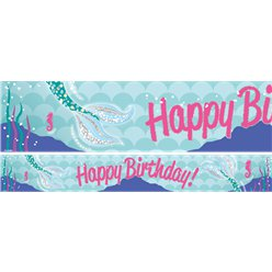 Magical Mermaid Paper Banners - 1m