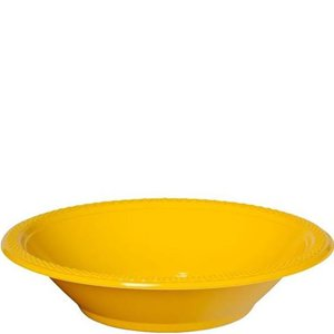 Yellow Party Bowls - 355ml Plastic