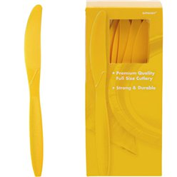 Yellow Reusable Knives - 100pk