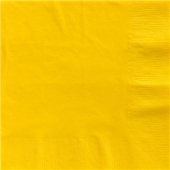 Yellow Dinner Napkins - 40cm Square 2ply Paper