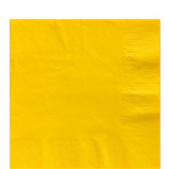 Yellow Luncheon Napkins - 33cm Square 2ply Paper