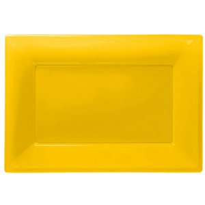 Yellow Serving Platters - 23cm x 32cm Plastic