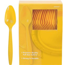 Yellow Reusable Spoons - 100pk