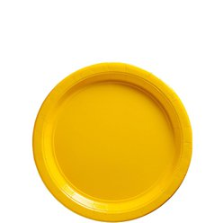 Yellow Dessert Plates - 18cm Paper Party Plates