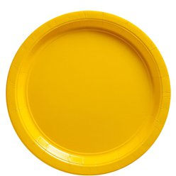 Yellow Plates - 23cm  Paper Party Plates