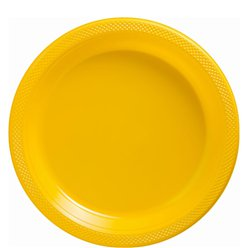 Yellow Plates - 23cm  Plastic Party Plates