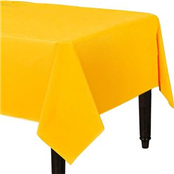Yellow Plastic Tablecover - 1.4m x 2.8m