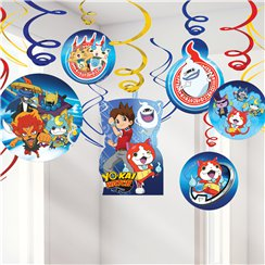 Yo-Kai Watch Hanging Swirl Decorations