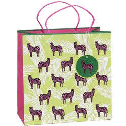 Pink Zebra Eco Gift Bag - Large