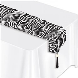 Zebra Print Table Runner - 1.8m