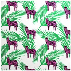 Pink Zebra - Sheet of Eco Gift Wrap