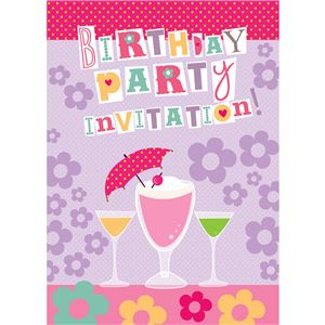 Cocktails Birthday Invitation  Cards - Small