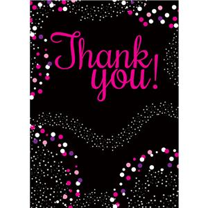 Pink Thank You Cards- Small