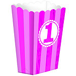 Girl's 1st Birthday Popcorn Box