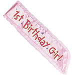Girl's 1st Birthday Sash