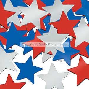 Red, White & Blue Stars Table/Invite Confetti