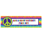 60s Feeling Groovy - 1.65m Giant Sign Banner
