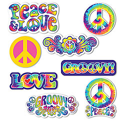 60s Feeling Groovy Cutout Decorations