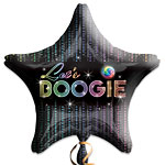 70s Disco Fever Star Shape Balloon - 18'' Foil