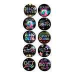 70s Disco Fever Button Badges