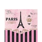 A Day in Paris Beverage Napkin - 2ply Paper