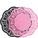 A Day in Paris Round Paper Doilies - 25cm
