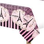A Day in Paris Plastic Tablecover - 1.37m x 2.58m