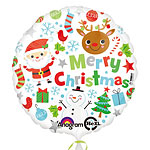 "Merry Christmas Balloon - 18"" Foil"