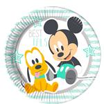 Baby Mickey Plates - 23cm Paper Party Plates