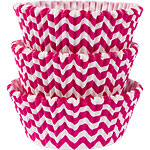 Hot Pink Chevron Cupcake Cases