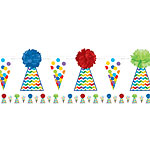Birthday Bright Party Hat Bunting - 3.65m