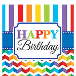 Birthday Bright Napkins - 2ply Paper