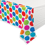 Cabana Dots Tablecover - Plastic Party Table Cover