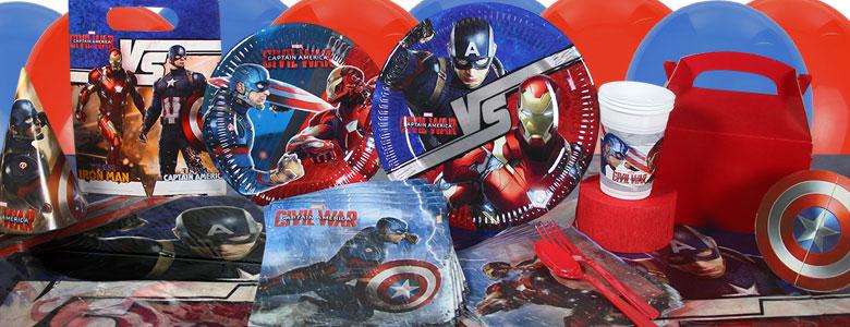 Captain America Civil War Party Supplies Party Delights