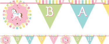 Carousel Party Bunting - 2.4m