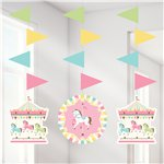 Carousel Party Hanging Cutouts - 91cm