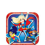 DC Super Hero Girls Dessert Plates - 18cm Paper Party Plates