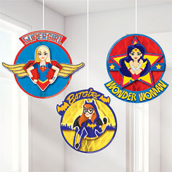 DC Super Hero Girls Honeycomb Hanging Decorations