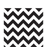 Black Chevron Napkins - 33cm