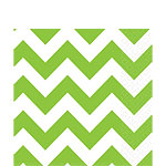 Lime Green Chevron Napkins - 33cm