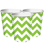 Lime Green Chevron Party Cups - 256ml