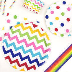 Rainbow Dots & Chevrons